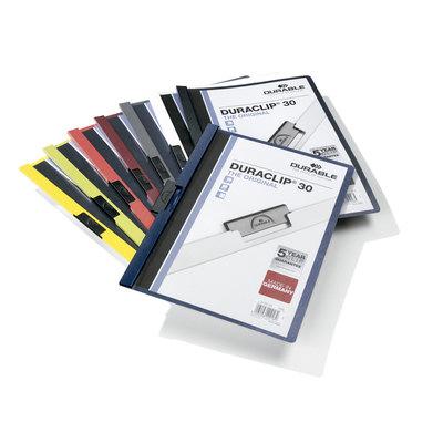Dossier con clip metálico A4 30 hojas Durable Duraclip 220010
