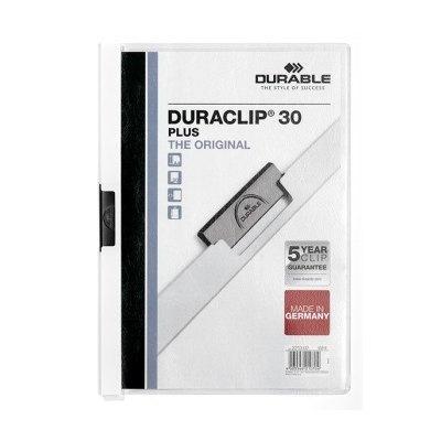 Dossier con clip metálico  A4 blanco Durable Duraclip 221302