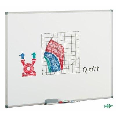 Pizarra blanca no magnética estratificada marco de aluminio Faibo 11-2