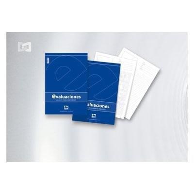 Cuaderno de evaluaciones rayado horizontal