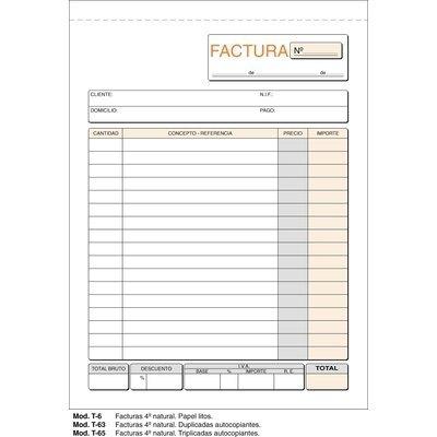 Talonario de facturas cuarto natural Loan 6/1