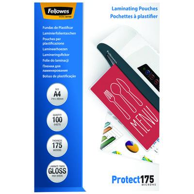 Fundas para plastificar 175 micras brillo Fellowes Protect 5308703