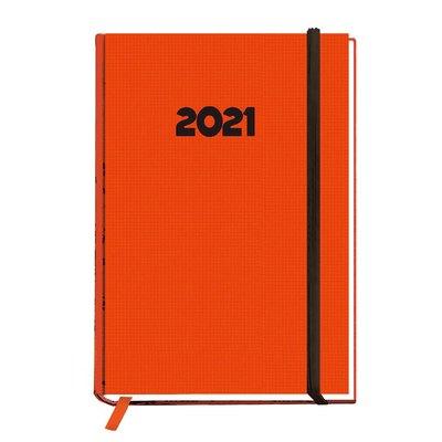 Agenda Día página 2021 Myrga Peñafiel Plus 14,5x21cm Naranja 3000NA