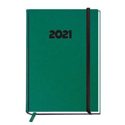 Agenda Día página 2021 Myrga Peñafiel Plus 14,5x21cm Verde 3000VE