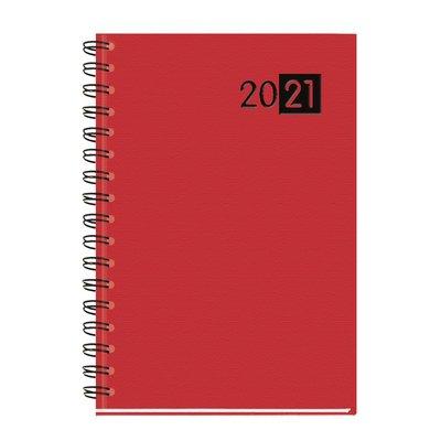 Agenda espiral Semana vista + notas 2021 Myrga Salerno 14,5X21cm Rojo 3300RJ