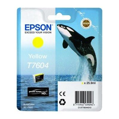Cartucho inkjet Epson T7604 Amarillo 25,9 ml C13T760440