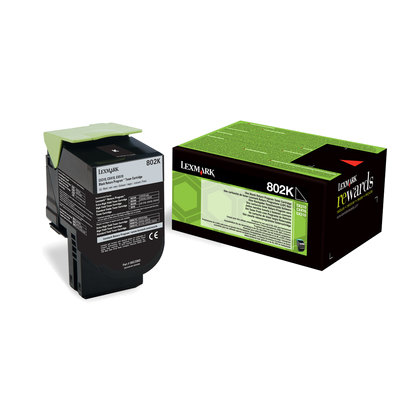 Tóner Lexmark 802K Negro 1000 páginas 80C20K0