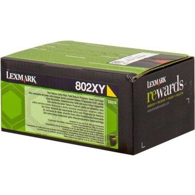 Tóner Lexmark 802XY amarillo  4.000 páginas 80C2XY0