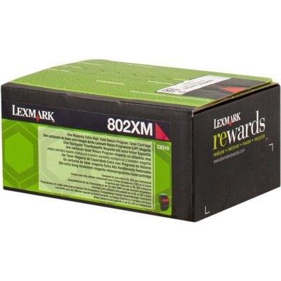 Tóner Lexmark 802XM magenta  4.000 páginas 80C2XM0