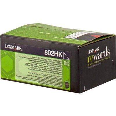 Tóner Lexmark 802HK negro  4.000 páginas 80C2HK0