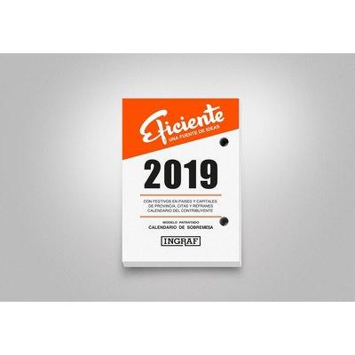 Bloque calendario sobremesa Ingraf Eficiente 8,2x11,6cm 10210