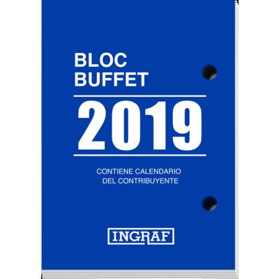 Bloque calendario sobremesa Ingraf Buffet 8,2x11,6cm
