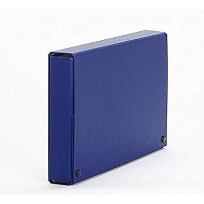 Caja de proyectos de cartón con broche Salvador García lomo de 50mm gris