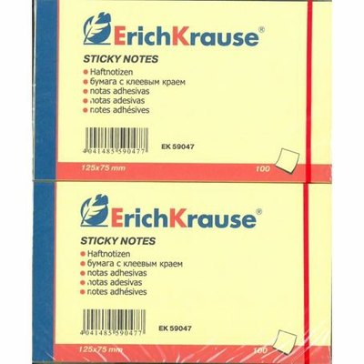 Bloc de notas adhesivas Sticky Erich Krause 40x50 mm