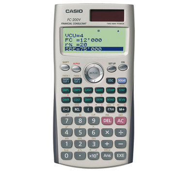 Calculadora financiera Casio FC-200V FC-200V