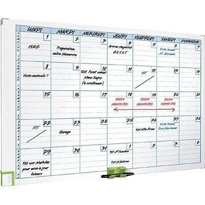 Planning mensual con marco metálico Nobo 3048101