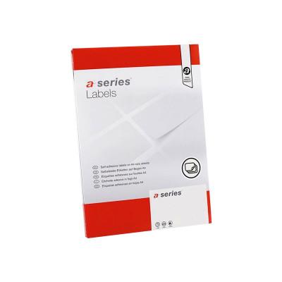 Etiquetas adhesivas A4 cantos rectos 100 hojas A-Series AS0653