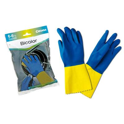 Guantes de látex flocado bicolor Cegasa 004510