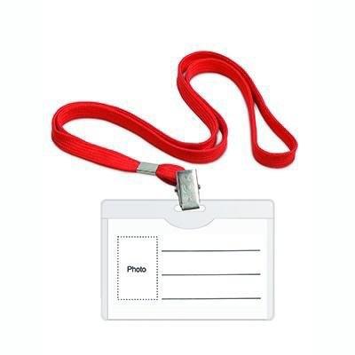 Identificador porta nombre con cordón Forpus rojo