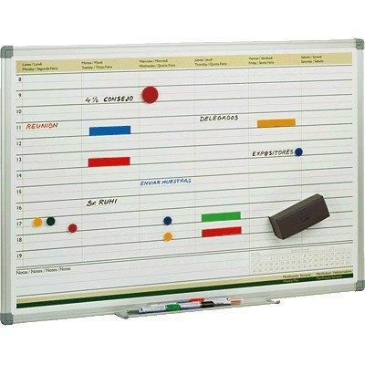 Planning semanal con marco de aluminio Faibo PLS
