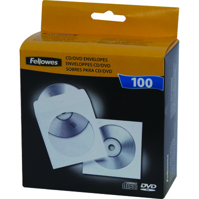 Sobres para CD blanco Fellowes 90691