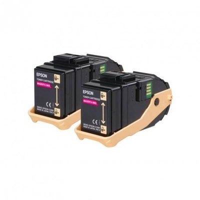 Tóner Epson AL-C9300 Pack doble Magenta 7500 páginas C13S050607