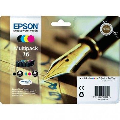 Cartucho inkjet Epson 16 Pack negro + tricolor 165 páginas C13T16264010