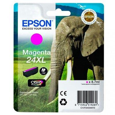 Cartucho inkjet Epson 24XL Magenta 740 páginas C13T24334010