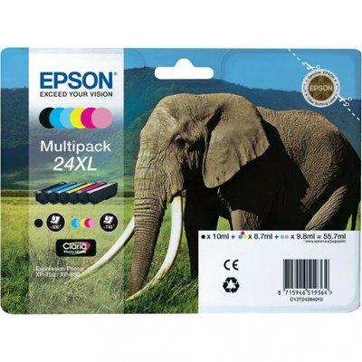 Cartucho inkjet Epson 24XL Pack 6 colores 740 páginas C13T24384010