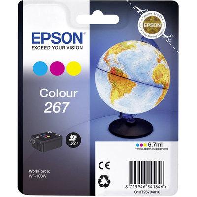 Cartucho inkjet Epson 267 Color 6,7 ml C13T26704010