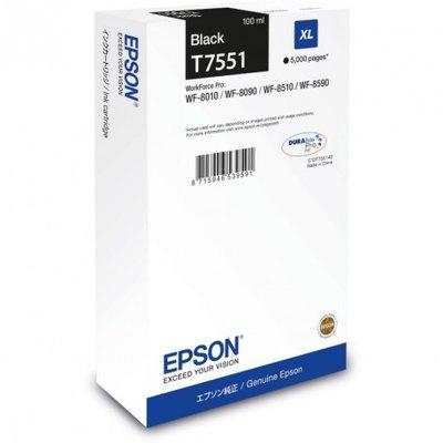 Cartucho inkjet Epson T7551 Negro 5000 páginas C13T755140