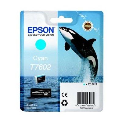 Cartucho inkjet Epson T7602 Cian 25,9 ml C13T76024010