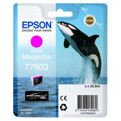 Cartucho inkjet Epson T7603 Magenta vivo 25,9 ml C13T76034010