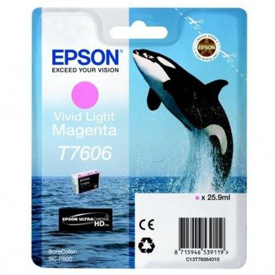Cartucho inkjet Epson T7606 Magenta vivo 25,9 ml C13T76064010