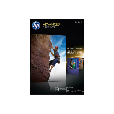 Papel fotográfico inkjet satinado A4 250g HP Advanced Q5456A