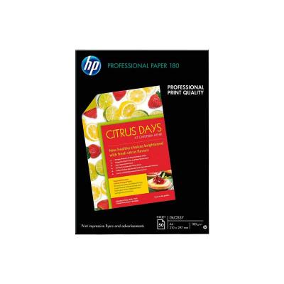 Papel fotográfico inkjet satinado A4 180g HP Professional C6818A