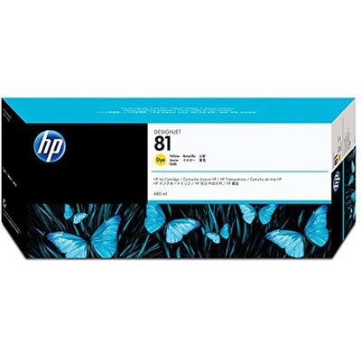 Cartucho inkjet HP 81 Amarillo 680 ml C4933A