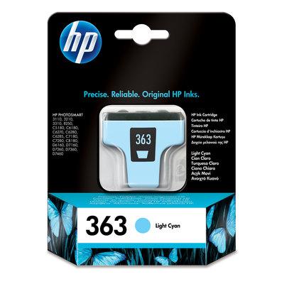 Cartucho inkjet HP 363 cian claro 220 páginas C8774EE