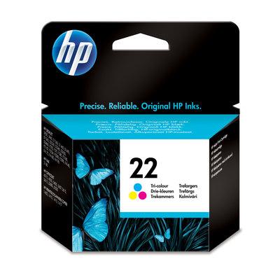 Cartucho inkjet HP 22 tri-color 165 páginas C9352AE