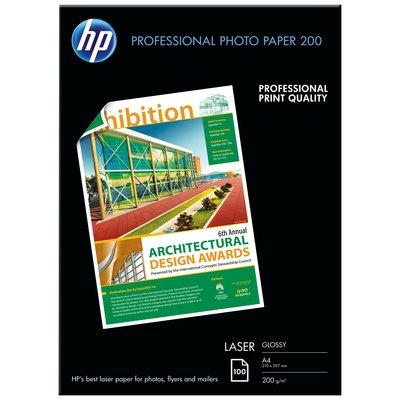 Papel fotográfico HP Professional láser satinado 200 g 100 h A4 CG966A