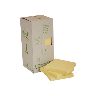 Bloc de notas adhesivas recicladas Post-it 654-1T