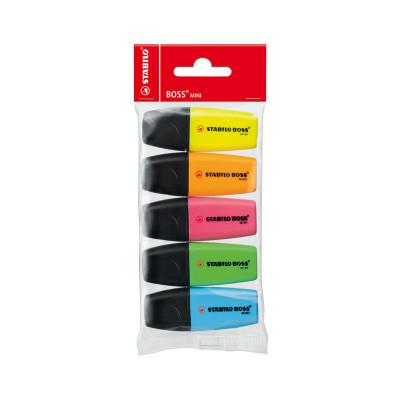 Rotulador fluorescente Stabilo Boss mini estuche 07/5-11