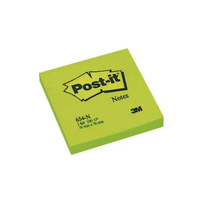 Bloc de notas adhesivas Post-it Neón 654-NG