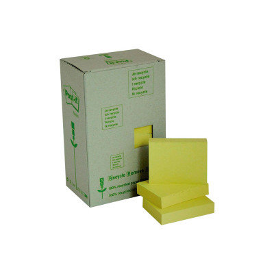 Bloc de notas adhesivas recicladas Post-it 653-1T
