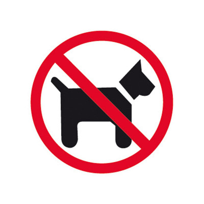 Pictograma adhesivo Prohibido Perros Apli 846