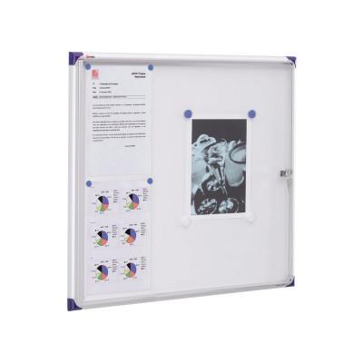 Vitrina para anuncios con puerta oscilante extraplana uso interior Nobo 1900847