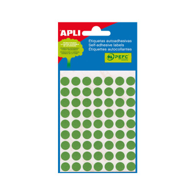 Etiquetas adhesivas Apli de  colores Bolsa 5 2054