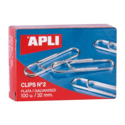 Clips labiados plateados Apli 11714