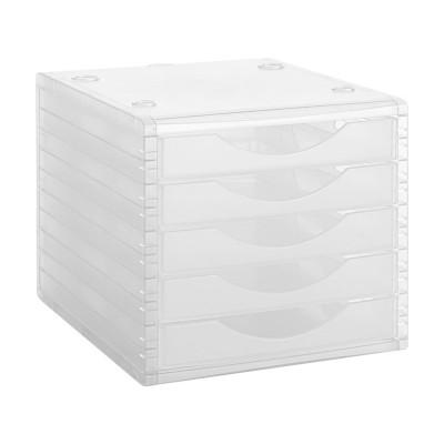 Módulo de 5 cajones translúcidos Archivo 2000 Archivotec 4005 TL CS TL