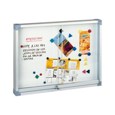 Vitrina magnética con puerta corredera Faibo 634-2